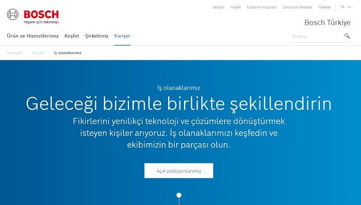 Bosch Türkiye İş Başvurusu
