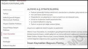 Alfemo Mobilya İş Başvurusu