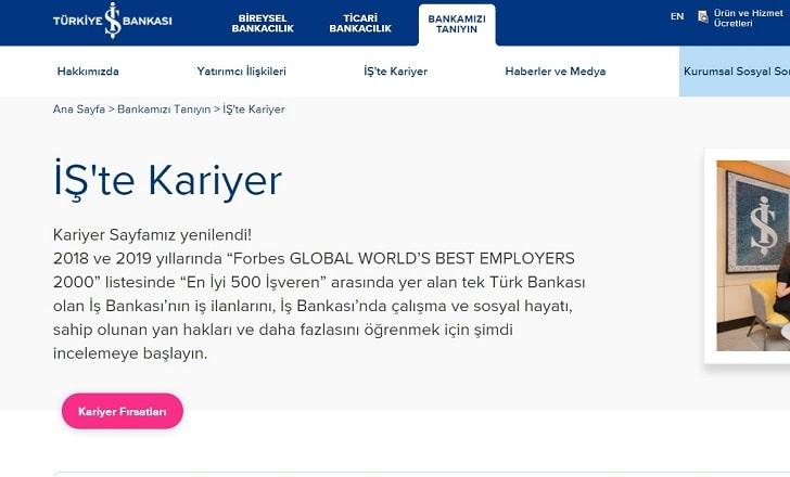 Türkiye İş Bankası İş Başvurusu